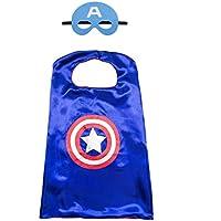 Kiddo Care 1 juego de traje de superhéroe de capitán América, máscara, ...