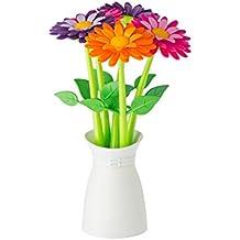 Vigar Flower Power - Bolígrafos, plástico, 14,5 x 14,5 x 25,5 cm, multicolor