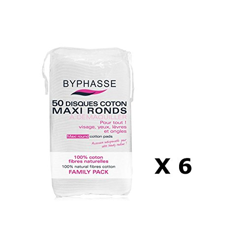 Lot de 6-50 Disques de coton - Maxi Ronds
