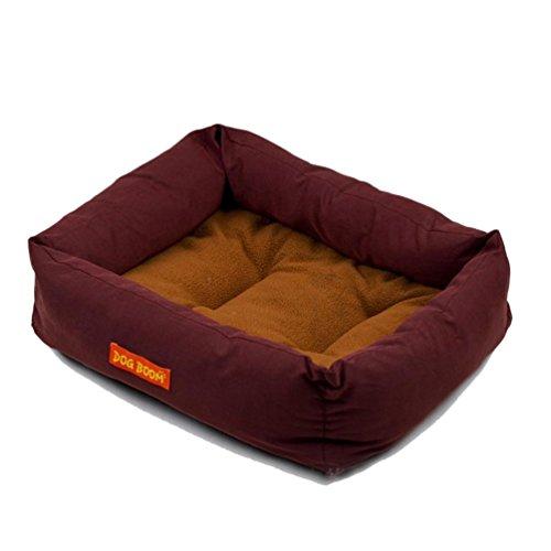 Cuccia per cane, Culater Cane Cucciolo Caldo Letto Accogliente Casa Soffice Gatto Nido Mat Pad (Marrone) - Ovale Mat