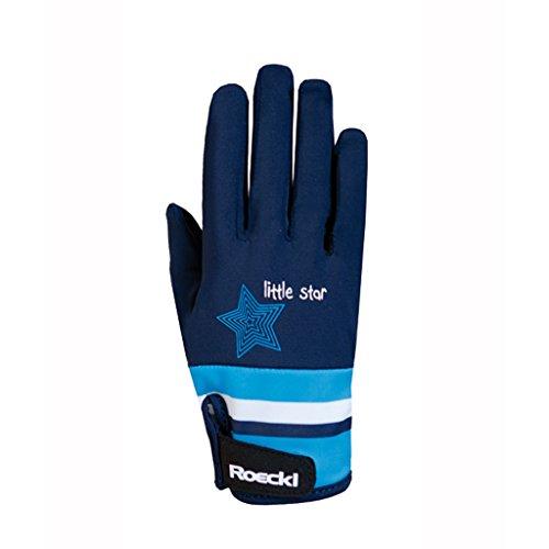 Roeckl Sports Junior Handschuh -Kelli- Kinder Reithandschuh, Marine, 6