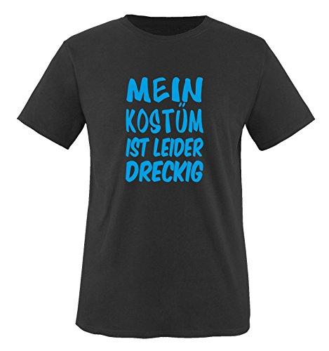 Kostüme K Motto (MEIN KOSTÜM IST LEIDER DRECKIG - Kinder T-Shirt Schwarz / Blau)