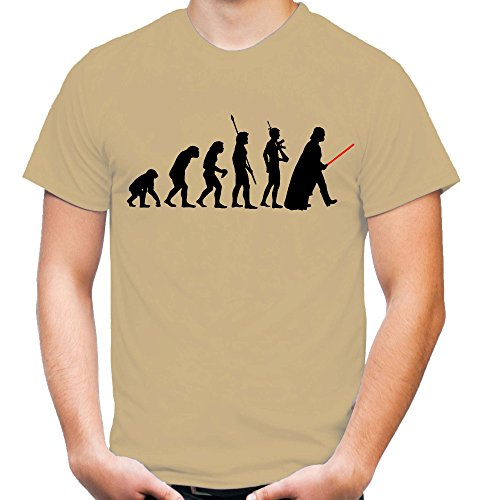 Evolution Darth Vader Männer und Herren T-Shirt | Star Wars Vintage Empire Geschenk (L, (Körper Kostüme Anzug Comic)