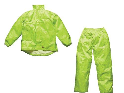 Dickies Outer Layer Vermont Regenschutz-Set Budget Regenjacke+Regenhose - Gelb, L