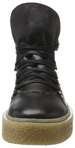 BIANCO Warme Plattform Boots, Anfibi Donna nero (nero)