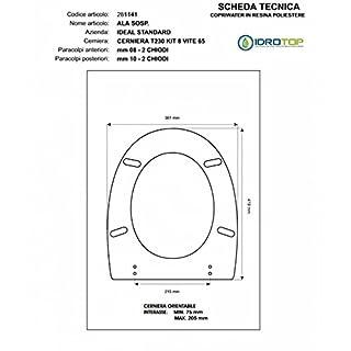Ideal Standard Toilet Wing SOSP. White Soft Close I.S. Zip Slowed oro-sedile-asse Toilet