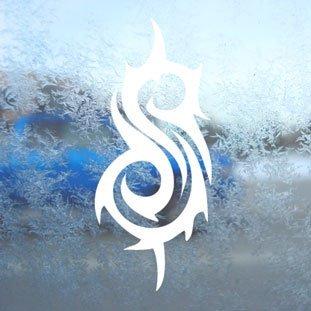 Logo-rockband (Aufkleber / Autoaufkleber / Sticker / Decal white Slipknot Rock Band Logo Slip Knot White Decal Car White Sticker)