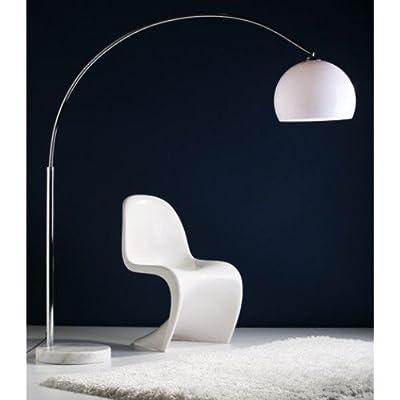 BIG BOW RETRO DESIGN LAMPE mit DIMMER von DESIGN DELIGHTS lounge stehlampe bogenlampe von SalesFever