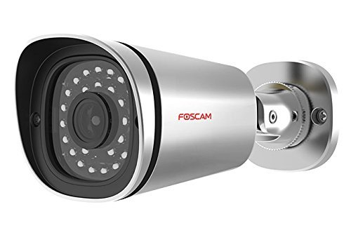 Foscam FI9901EP Ultra HD 4MP PoE Wired IP Camera for Home Security CCTV, IP66 Weatherproof with 20 Metre Night Vision and Motion Detection Push Notifications