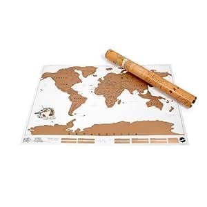 Carte du monde à gratter SCRATCH MAP