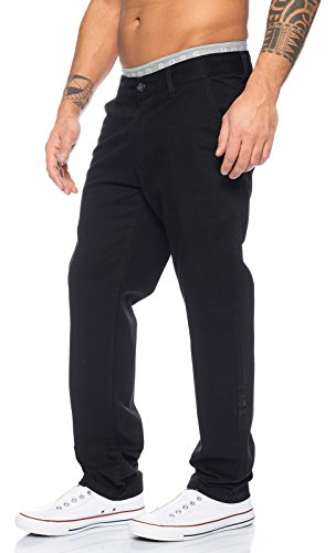 Jean-rock (Rock Creek Herren Designer Chino Stoff Hose Chinohose Regular Fit Herrenhose W29-W40 RC-2083 [RC-2083 - Schwarz - W29 L34])