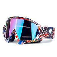 Aooaz Motorcycle Goggles For Unisex Ski Goggles Cross Country Goggles Riding Goggles Style B