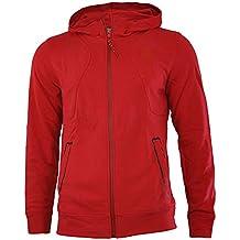 Puma Ferrari Hooded Sweat Jacket hombres Sudadera chaqueta con capucha Rojo