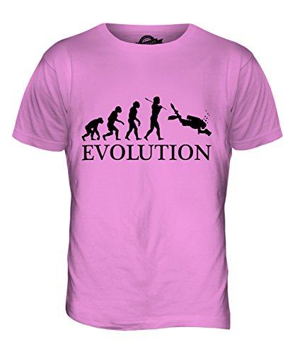 CandyMix Fotografia Subacquea Evoluzione Umana T-Shirt da Uomo Maglietta Rosa