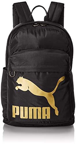 PUMA Originals Backpack Rucksack, Black-Gold, OSFA