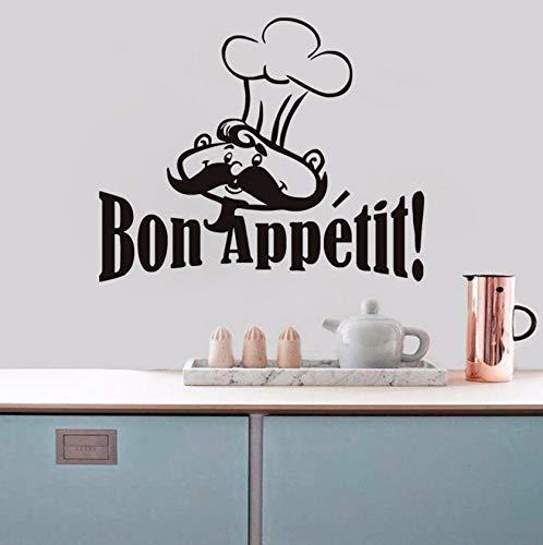 Dalxsh Chef Cooker Französisch SpanischZitate Lebensmittel Wandaufkleber Für Wohnzimmer EsszimmerRestaurantsKüchenleiter 44X36 Cm