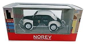Norev-319126-4CV/Pol-Renault 4CV pie Policía-Escala 1/64-Negro/Blanco