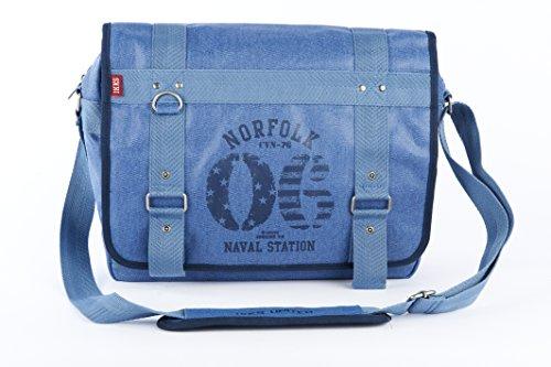 IKKS Sac bandoulière Norfolk 2014 Besace Bleu Bleu (BLEU) I3NOR-BES-B1