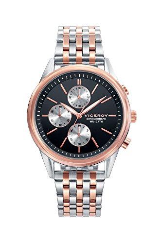 Viceroy Hommes Chronographe Quartz Montre avec Bracelet en Acier Inoxydable 401123-57