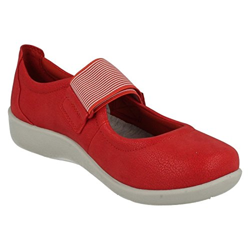 Clarks Cala Sillian Womens Scarpe Piatte Red