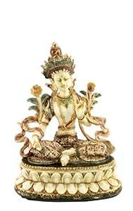 Signes Grimalt - Figurine en resine BOUDDHA ASSIS, couleur ivoire, 17 cm 65546SG