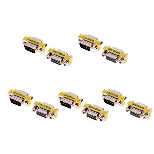 Db9-stecker Gender Changer (H HILABEE 5Pin 9Pin RS232 DB9 Serieller Adapter Koppler Gender Stecker Männlich/Weiblich)