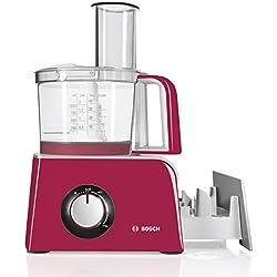 Bosch MCM42024 - Procesador de alimentos con accesorios, 800 W, capacidad 1,25 l, color rosa fucsia