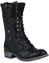4c191a5f0f3688 Stiefelparadies Damen Schnürstiefeletten Übergrößen Warm Gefüttert Flandell