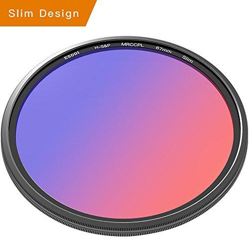 ESDDI CPL Filter 67mm Adapter Polfilter zirkularer digicam Polarisationsfilter mit Slim Schott Glas, Filter Optik der Nikon, Sony, Canon u.s.w Kameraobjektive ¡