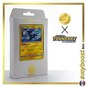 Zéblitz (Zebstrika) 82/214 Holo Reverse - #myboost X Soleil & Lune 8 Tonnerre Perdu - Box de 10 Cartas Pokémon Francés