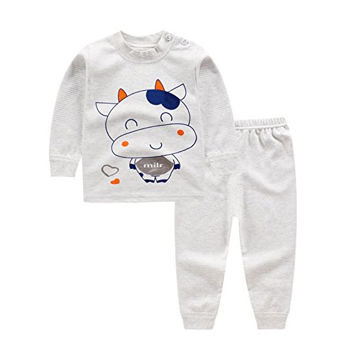 05d10b9ca2f62 Bébé Pyjamas Set Vêtements Set Cartoon coton garçon fille vêtements de nuit  2 pièces pour 0