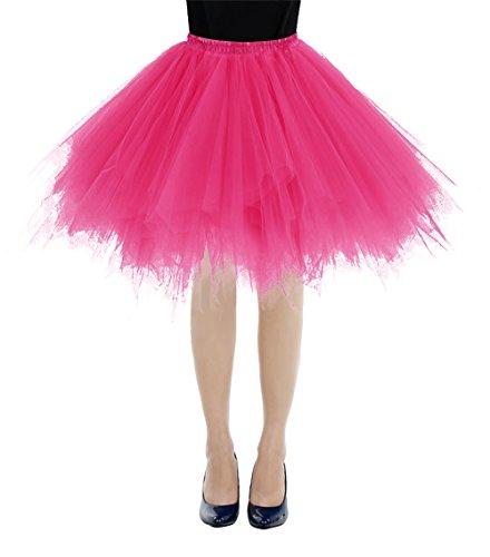 etro Petticoat Rock Ballett Blase 50er Tutu Unterrock Fuschia L (Tutu Rock)
