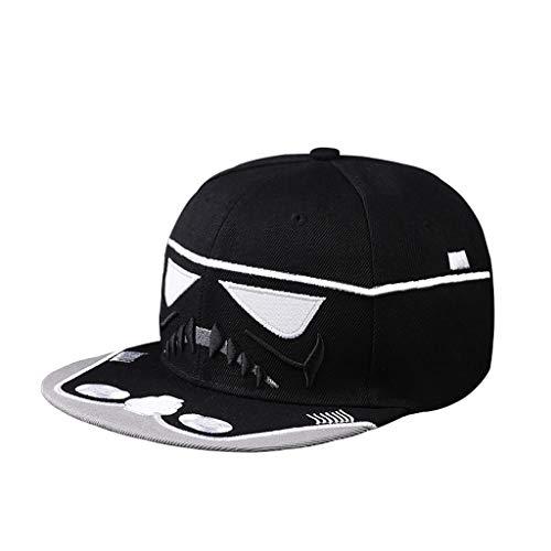 Chx Hut Baseballmütze Sonnencreme Regendicht Visier Lange Kappe Hip Hop für Männer Frauen Frühling Sommer (Farbe : Star Wars - Black, größe : ()