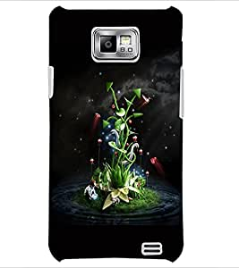 PrintDhaba Floral Pattern D-2421 Back Case Cover for SAMSUNG GALAXY S2 (Multi-Coloured)