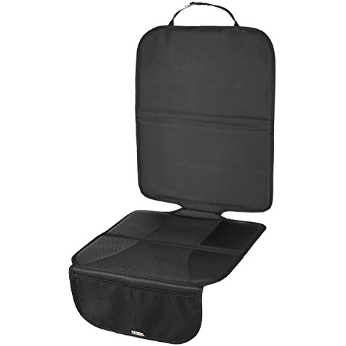 TECAROO couverture de siège de voiture confortable en anthracite | avec 2 ans de garantie satisfaction | couverture pour siège, coussin de siège d'enfant