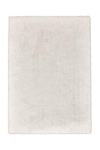 Teppich Wohnzimmer Carpet Hochflor Shaggy Design Royal 310 Rug Unifarbe Muster Polyester 200x290 cm Weiß/Teppiche günstig online kaufen