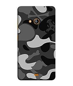 PrintVisa Designer Back Case Cover for Microsoft Lumia 540 Dual SIM (Modern Art With Colourful Printed Design Texture)