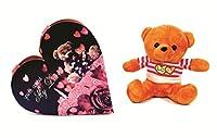 Skylofts Cute 5pc I Love You Valentine's Chocolate Heart Gift Box with a cute Love You teddy