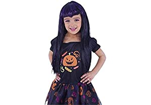 Rubies- Peluca infantil de vampiresa traviesa, Color negro y lila, Talla única (Rubie