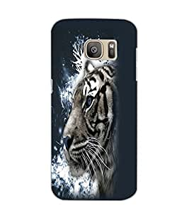 SAMSUNG GALAXY S7 EDGE TIGER Back Cover by PRINTSWAG