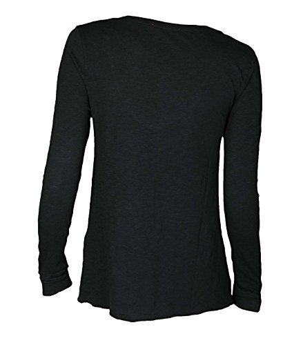 American Vintage Damen Langarm-Shirt Jacksonville Carbon Carbon