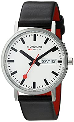 Reloj de caballero Mondaine A667.30314.11SBB de cuarzo, correa de piel color negro de Mondaine