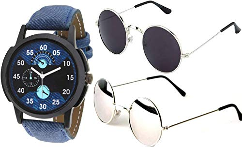 d7480d252b6 ... Y S UV Protected Unisex Sunglasses for Mens Women Boys and Girls  Stylish Combo with Watch. Sale! ₹2