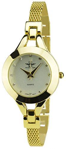 michael-john-orologio-donna-argento-quarzo-cassa-spessore-display-analogico-cinturino-acciaio-oro