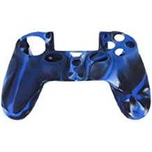 Imported Camo Silicone Protective Skin Case Cover for Sony PlayStation 4 PS4 Controller --Navy with Black