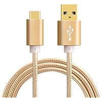 Cavo Micro USB Oro di 150cm in Nylon intrecciato anti-emmêlement, con connettori PVC rigida, per smartphone Android, Samsung, HTC, Nokia, Sony e altri | netta soluzioni®