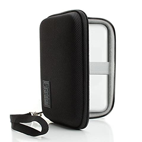 Mobile Wi-Fi Hotspot Protective Hard Case w/ Detachable Wrist Strap , Interior Kit Pocket & Water-Resistant Design by USA Gear - For Portable Wi-Fi Hotspots- Works with Huawei E5786C , TP-Link M7350 , Netgear AC810-100EUS , Vodafone R205 &