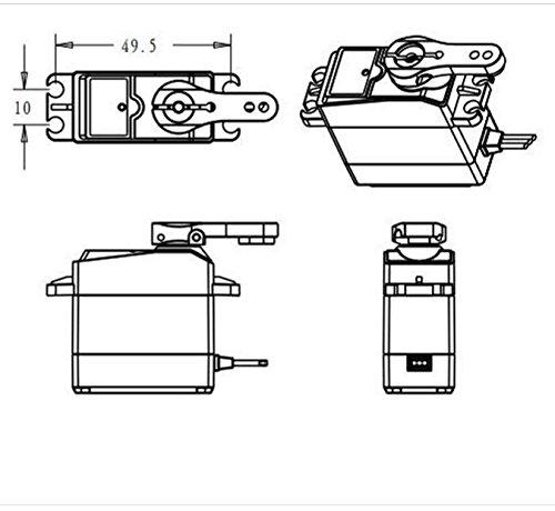 DS3218 RC Servo Wasserdichtes Aluminiumoberteil Einachsiges Servo Metallzahnrad digitales Servo baja 20kg Servo für RC Auto (control angle 180) - 7