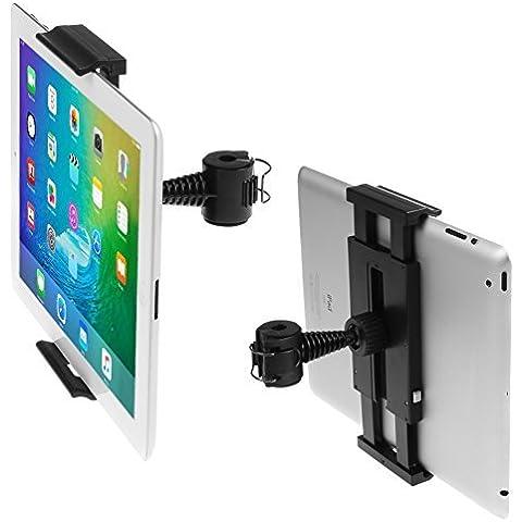 iKross Montaje Sostenedor para el Reposacabezas del Coche Negro: Compatible con: Apple iPad, iPad Mini, Samsung Tab, Huawei, LG G Pad, Google Nexus, BQ, Asus, Xiaomi y otros tabletas de 7 - 10.1