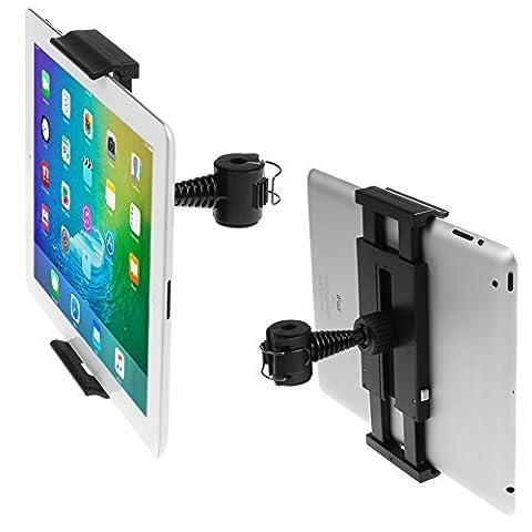 iKross Universal Tablet Support appuie-tête de voiture pour banquette arrière 7 à 10.2 pouces avec rotation à 180° - Noir Pour Apple, HTC, Google Nexus, Samsung, LG, Asus, Lenovo Tablette